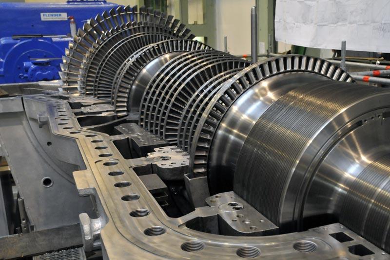 Мощная паровая турбина для крупной тепловой электростанции