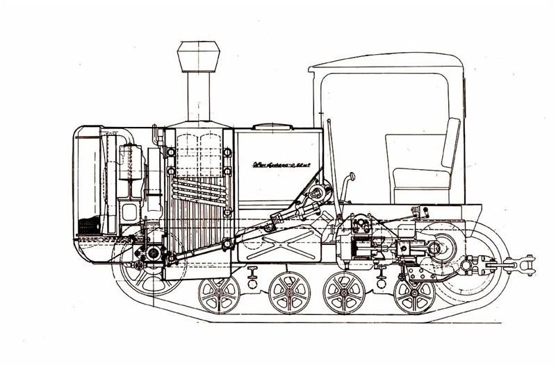 Паровой трактор ПТ-54