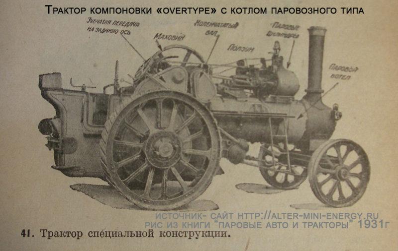 паровой тягач- трактор